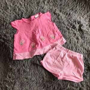 SEARS BABY 2 pc pink matching outfit